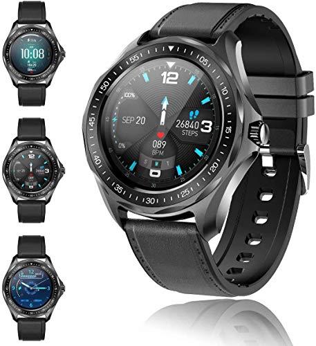Smartwatch,Bluetooth Smart Watch con Camera Orologio Intelligente Orologio Cellulare Impermeabile con SIM Card Slot Per Android IOS Phone Contapassi Conta Calorie con Fotocamera Sveglia Uomo Donna
