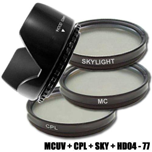 DynaSun C-PL CPL 77mm Pol-Filter +MCUV Filter Multicoated MC UV +Skylight +Gegenlichtblende 77 mm