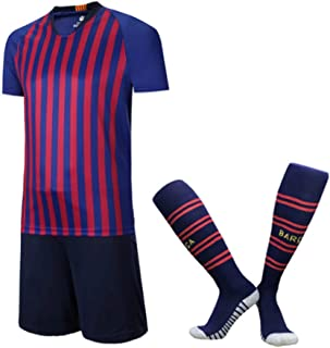 XIAOL 2019 Kids Soccer Jerseys Sets Survetement Football Kit Hombres Niño Futbol Running Chaquetas Niños Niñas Entrenamiento Chándal Calcetines Gratis,18-XL