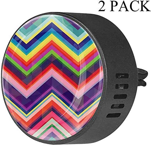 Retro Rainbow Zig Zag Background Car Diffuser Aromatherapy Essential Oil Diffuser Vent Clip product image