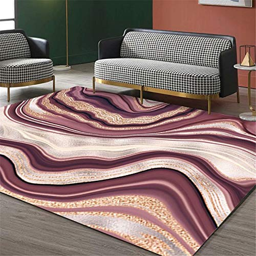 Kunsen Alfombra Lavable alfombras de Pasillo Sala de Estar Alfombra Morada Antideslizante Terciopelo de Cristal Suave cojin Suelo Grande 40X60CM 1ft 3.7' X1ft 11.6'