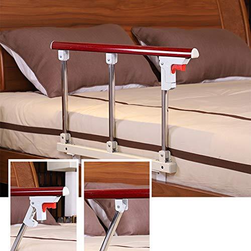 YYFANG Barandilla Cama, Barandilla De Enfermería Plegable Aleación De Aluminio Multi-Cama Universal Diseño Sin Perforaciones, Fácil Instalación (Color : A, Size : 70x40cm)
