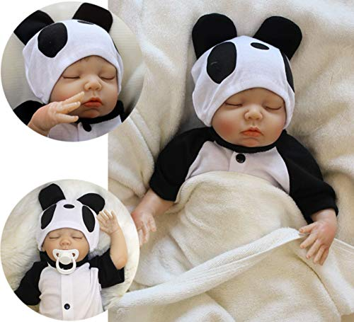ZIYIUI Reborn Baby Dolls 20 inch 50 cm That Looks Real Life Baby Dolls Realistic Toddler Boy Newborn Soft Silicone Doll Sleeping Dolls Birthday Gift Toys