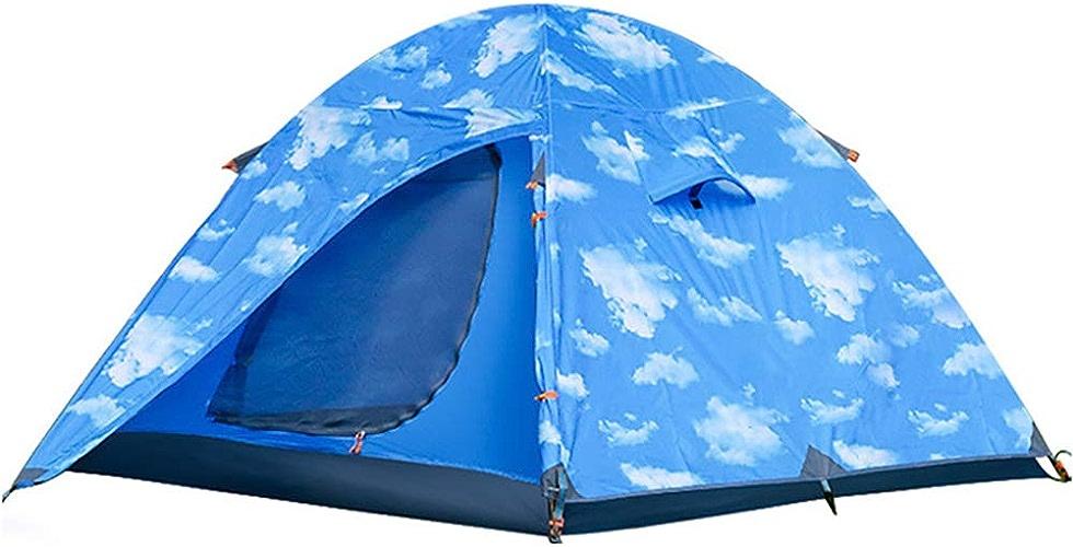 SMILINGGIRL Tente De Camping en Plein Air, Tente à Deux Portes pour Escalade en Plein Air, Tenue dans La Main, pour 3 Personnes