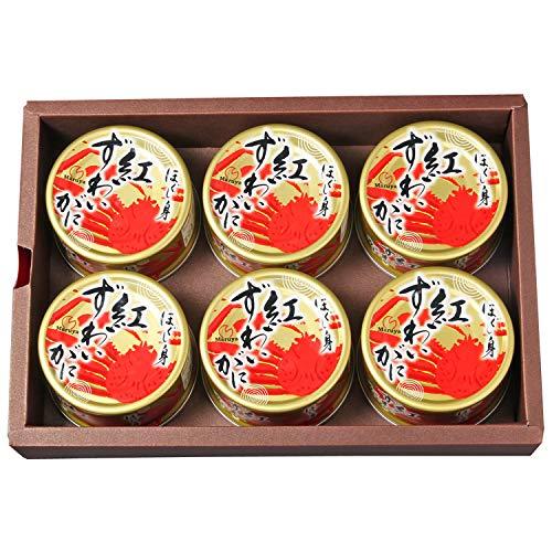 マルヤ水産 紅ずわいがに ほぐし身缶詰 (100g) (6缶ギフト箱入)