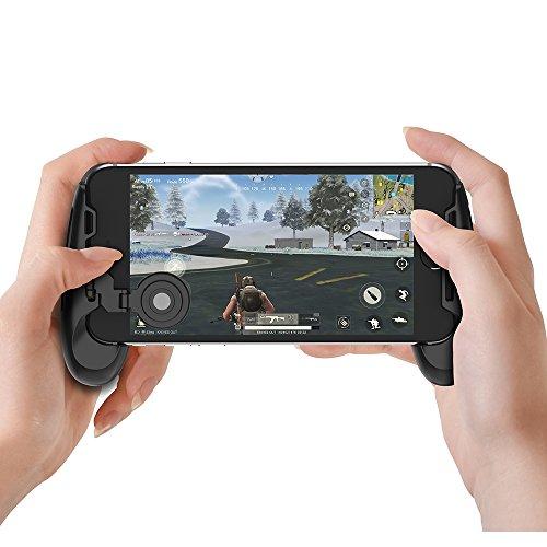 GameSir F1 Mobiler PUBG Controller Griffetui für Smartphone, mobiler Gaming-Griff mit Joystick, Controller Griffhalter Handgriff Joypad mit ergonomischem Design