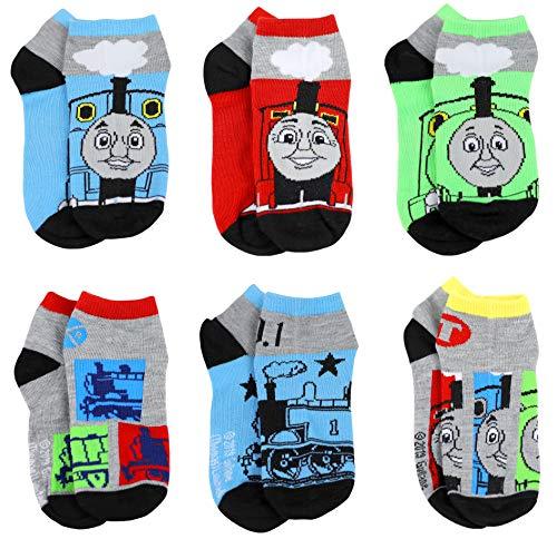 Thomas the Train & Friends Boys 6 pack Socks Set (Medium, Thomas Grey/Multi)