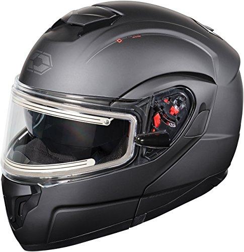 Castle X Atom SV Electric Modular Snowmobile Helmet (3XL, Matte Black)