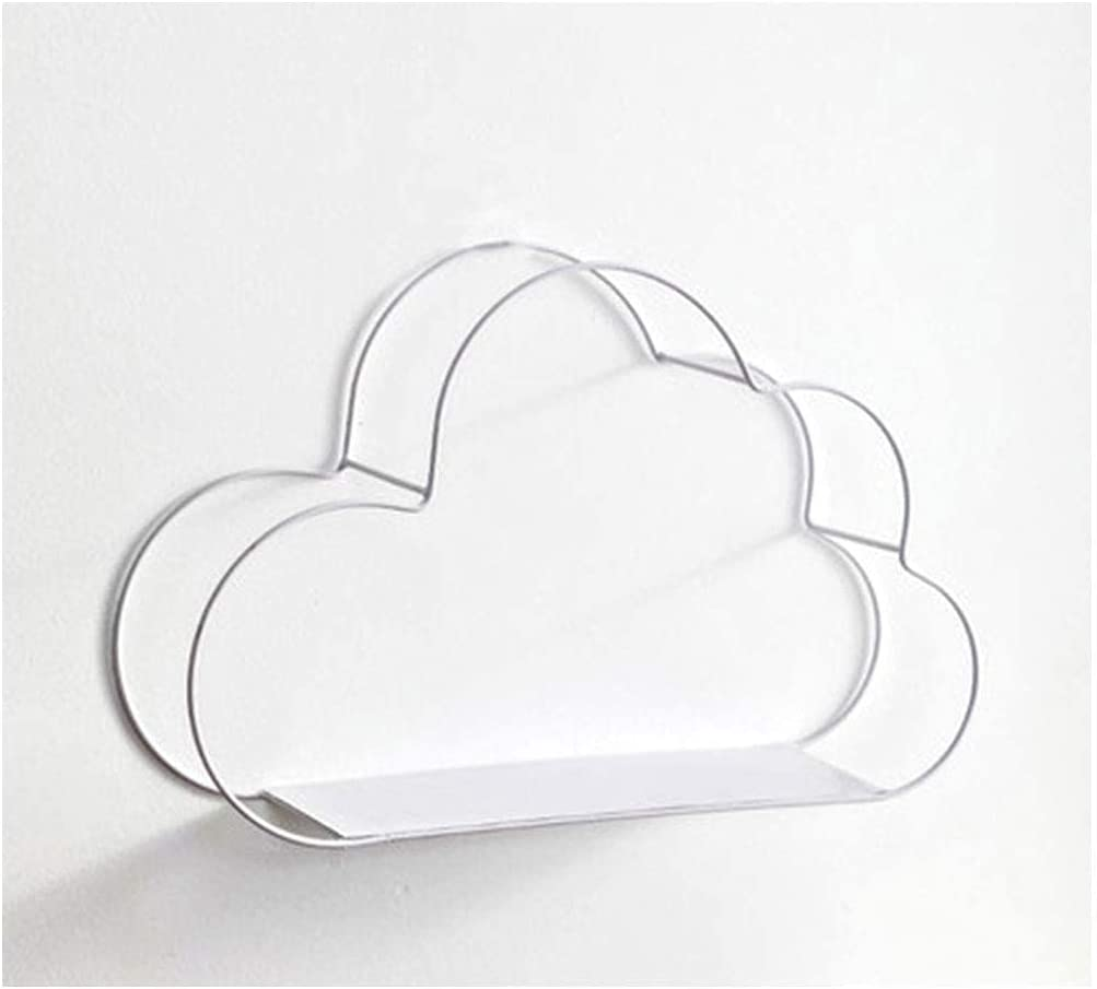 Very popular GONGFF Clouds Shape Floating Shelf Metal Easy-to-use Mount Decor Wall S Home