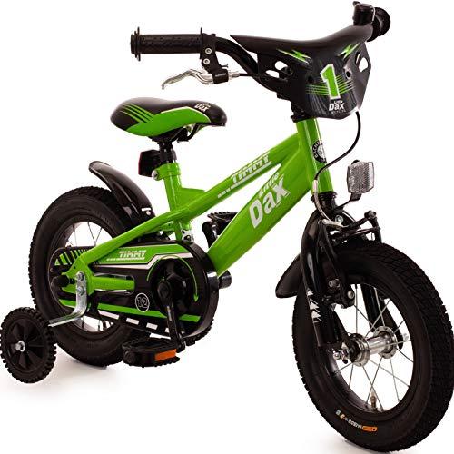 Fahrrad 12 Zoll Jungen Rücktritt Ständer Stützräder Kinderfahrrad Kinderrad grün