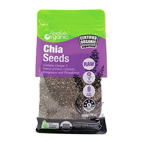 Absolute Organic Black Chia Seeds, 400g