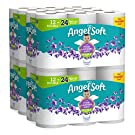 Angel Soft Toilet Paper with Fresh Lavender Scented Tube, 2-Ply Sheet Double Rolls, 12 Count of 214 Sheets Per Roll, Pack of 4 (79372)