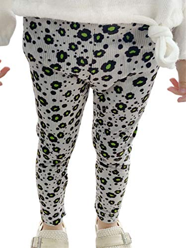 Plus Nao(プラスナオ) レギンス リブレギンス スパッツ レギパン 子供服 レッグウェア ウエストゴム 花柄 ボトムス キッズ ベビー 女の子 - 90cm
