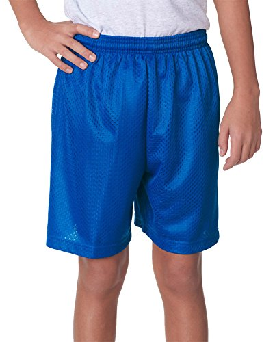 A4 Youth 10' Ultra Tight Knit Reversible Interlock Short, Royal, Medium