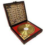AXAA Adornos de latón con brújula Feng Shui para Muebles, decoración de Oficina en casa China, inauguración de la casa, Oro