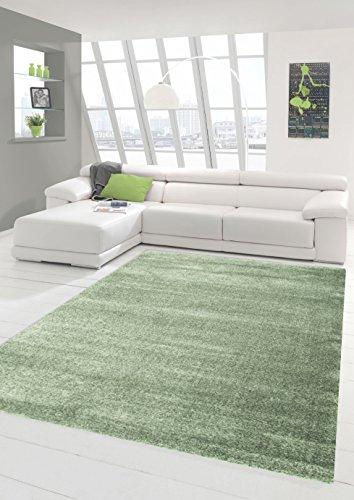 Traum Sala de Estar diseñador Alfombra Alfombra contemporánea alfombras de Pelo bajo con Uni Diseño Menta Größe 80x150 cm
