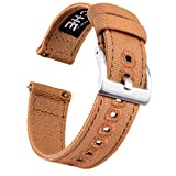 20mm Brown Canvas Quick Release Watch Bands Compatible with Timex Weekender Watch Straps for Men