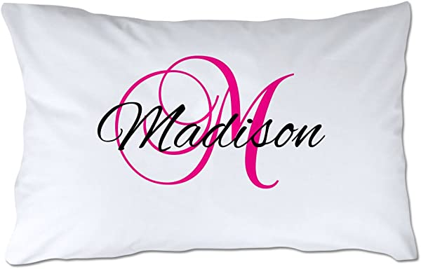 Pattern Pop Name And Initial Pillowcase Script