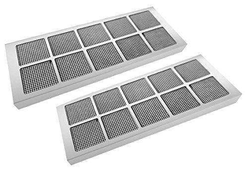 SILVERLINE AF-SET 912 2 x Aktivkohle-Wabenfilter, Edelstahl (bis zu 10-mal regenerierbar) / Dunstabzugshaubenzubehör/Filter