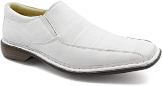 5929381f61a Sapato Masculino 3023 em Couro Floater Branco Doctor Shoes