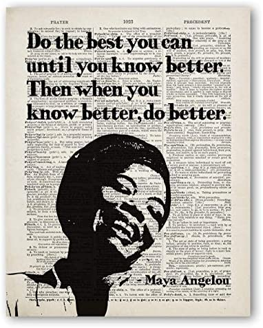 Maya Angelou Quotes Wall Art Do The Best You Can Women Motivational Quote Female Empowerment product image