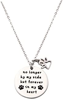 Pet Memorial Bracelet no Longer by My Side but Forever in My Heart Memorial Gifts for Dog Lover Cat Lover