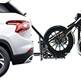 AMPERSAND SHOPS 800-lb. Capacity Moped Motorcycle Trailer Hitch Carrier Hauler Tow Towing Dolly Rack 2' Tow Receiver