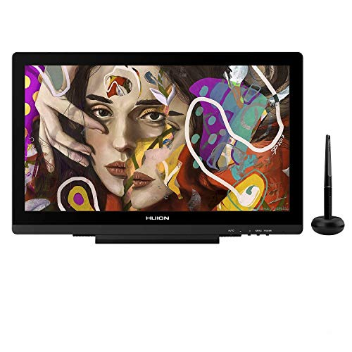 HUION KAMVAS 20 Grafiktablett mit Display, 120{e03713c75ce305b50b7f212b8390b86b4919ab68728a2647cd626229da01268c} sRGB-Farbumfang, Blendschutzglas, Upgrade-Version Kamvas GT-191 V2 mit verstellbarem Ständer, Ideal für Home-Office & E-Learning