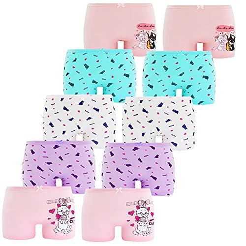 SGS KInderunterhosen Mädchen Boxershorts mit 95 % Baumwolle mehrpack Baumwollpants für 11-12 Jahre (146/152, 6er Pack)