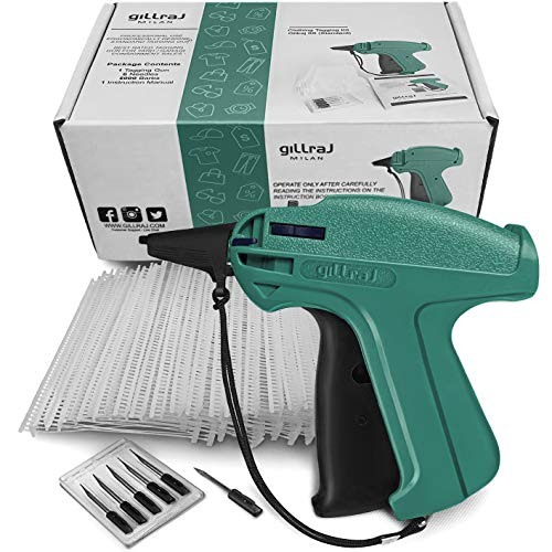 """GILLRAJ MILAN【5000pcs】Clothes Tagging Gun with 5000 2"""" Standard Barbs and 6 Needles Clothing Retail Price Tag Gun Set Kit for Boutique Store Warehouse Consignment Garage Yard Sale (2"""")"""