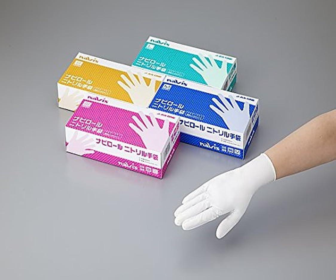 紫の化石冒険者ナビス(アズワン)8-2584-03ナビロールニトリル手袋ホワイトS