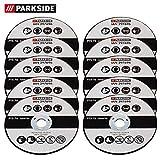 Parkside 297696 Lot de 10 disques à tronçonner de rechange pour meuleuse d'angle Parkside PWSA 12 Li A1 LIDL IAN