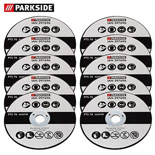 Parkside slijpschijven set 10-delig, vervanging slijpschijven voor parkeerzijde haakse slijper PWSA 12 Li A1 LIDL IAN 297696