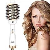 Aiskki Haartrockner,Multifunktional Warmluftbürste Ionic Föhn,5 In 1 Fön Warmluft und Volumenbürste Hair Dryer Volumizer Styler Föhnen Heißluftbürste für Haare Trocken und Stylen