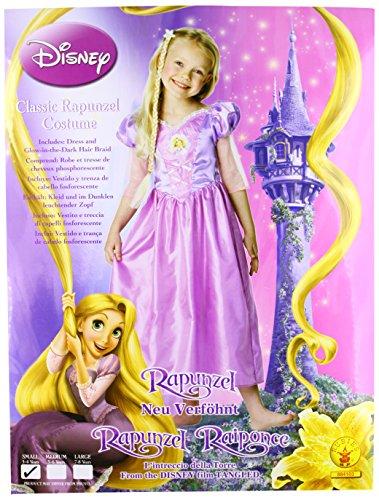Rubie's-déguisement officiel - Disney- Costume Classique Raiponce + Tresse - Taille S- I-884103S