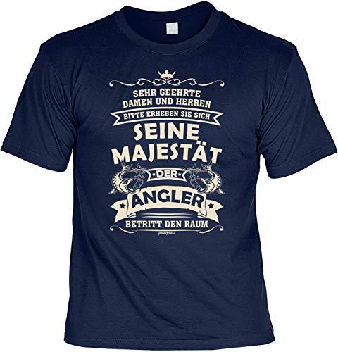 Angler T-Shirt lustiger Angel Zubehör für den Hobby Angler - der Angler - Papa Geschenk Geburtstagsgeschenk Geschenkidee Weihnachten Freizeit Gr: S