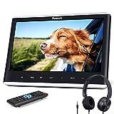 NAVISKAUTO 12' Car DVD Player with Headphone Mounting Bracket 1366x768 HD Screen Inhalation Drive Support Sync Screen AV in & Out Last Memory Region Free