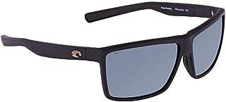 Costa Rinconcito RIC11OGP Unisex Matte Black Plastic Frame Grey Lens Lens Wrap Sunglasses