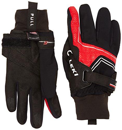 LEKI Handschuhe Nordic Thermo Shark, Black-Red-Silver, 10