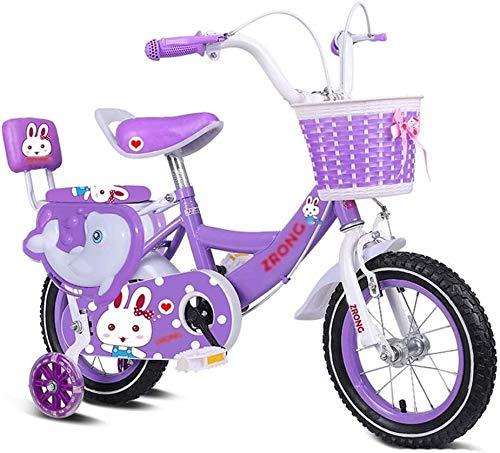 Xiaoyue Fahrräder Kinderheimtrainer Indoor Minifahrrad-Rosa Fahrrad im Freien 2~13 Jahre alt Fahrzeug Kids Travel Scooter 3~15 Jahre alt (Farbe: Lila, Größe: 12 Zoll) lalay