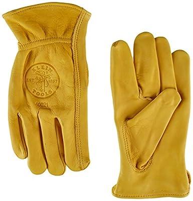 Klein Tools 40021 Cowhide Work Gloves, Unlined, Medium