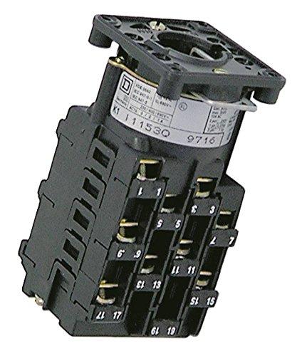 TELEMECANIQUE K1SJ1091030CN - Interruptor giratorio para amortiguador combinado Rational CD101, CD201, CD20, CD6, CD20-2, CD201-2 (9 pines)