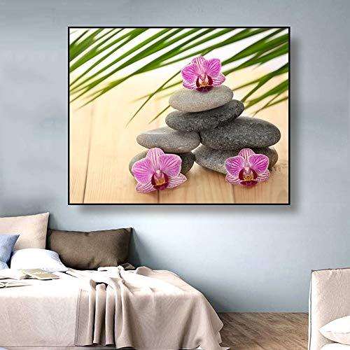 GJQFJBS Fleur Nature Morte Impression sur Toile Affiche Salon Impression Restaurant Mur Accueil Art Décoration A2 70x100 cm