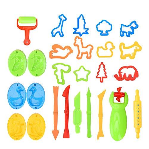 Juego de moldes de arcilla con 26 piezas de moldes de barro de colores para niños, juguetes de arcilla para niños, manualidades y manualidades