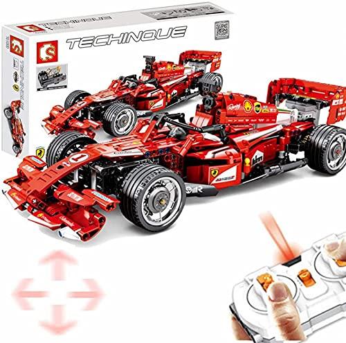 Bloques de Construcción de Tecnología Coche de Carreras para Fórmula 1 FRR-F1, 585Parts Coche Deportivo con Control Remoto de 2.4GH con Motores Bloques de Construcción Juguetes de Construcción