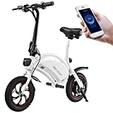 ANCHEER Folding Electric Bicycle/E-Bike/Scooter 350W Ebike with 12 Mile Range, APP Speed Setting