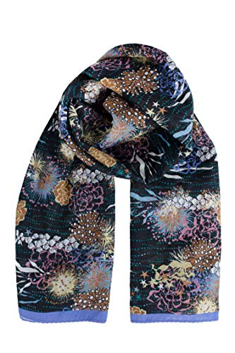 Becksöndergaard Schal Damen Sealife Sico Scarf (Night Sky) - 130 x 130 cm 75% Baumwolle/25% Seide - 2004648002-223