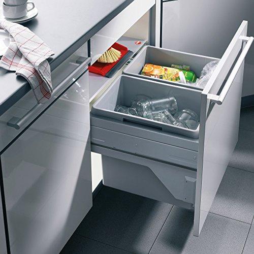 Hailo Abfallsammler, Kunststoff, Grau, 60 L