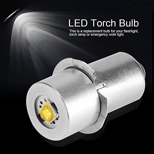 Bombilla LED de alta potencia para linterna LED, bombilla de repuesto de alta potencia, kit de conversión de bombillas LED de alta luminosidad lámpara de trabajo de emergencia(3 V, luz blanca fría)