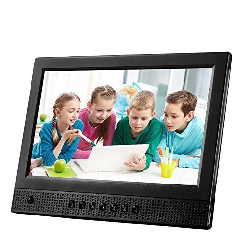 WQYRLJ Digitale fotolijst, 10 inch ultradunne HD weergave beweging sensor digitale fotolijst voorkant luidspreker, insteekbare hoofdtelefoon ondersteuning SD/MMC/MS kaart